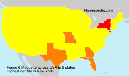 Surname Maguette in USA