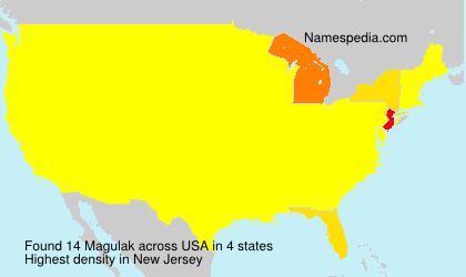 Surname Magulak in USA