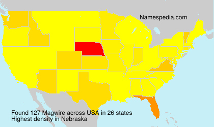 Surname Magwire in USA