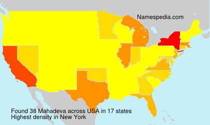 Surname Mahadeva in USA