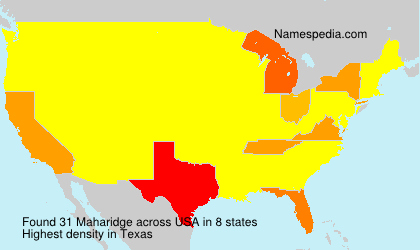 Familiennamen Maharidge - USA