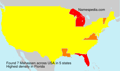 Surname Mahassen in USA