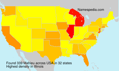 Surname Mahieu in USA