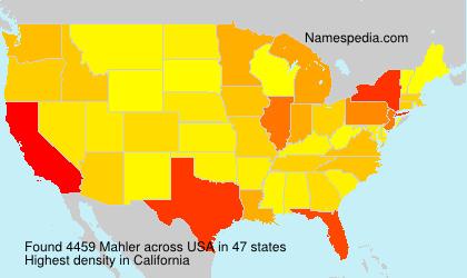 Surname Mahler in USA