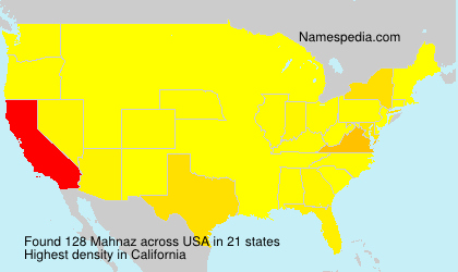Surname Mahnaz in USA