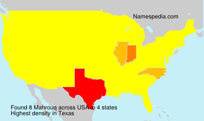 Surname Mahrouq in USA