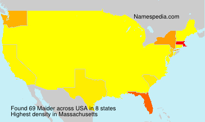 Surname Maider in USA