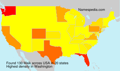 Surname Maik in USA
