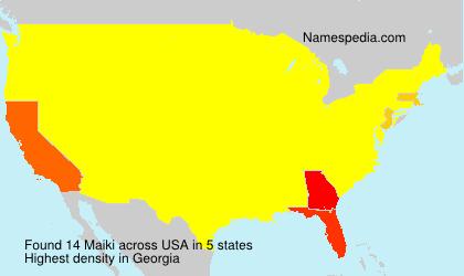 Familiennamen Maiki - USA