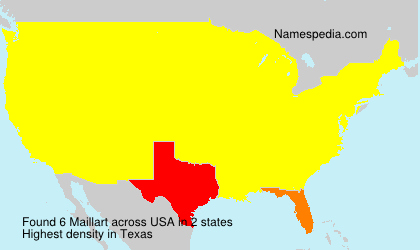 Surname Maillart in USA