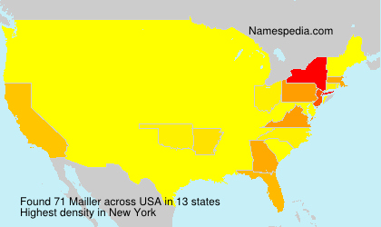 Surname Mailler in USA