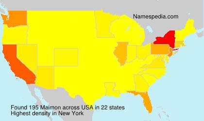 Familiennamen Maimon - USA