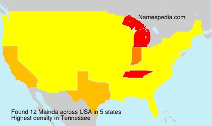 Surname Mainda in USA