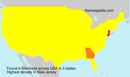 Surname Mainhard in USA