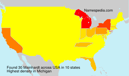 Surname Mainhardt in USA