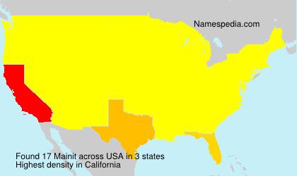 Familiennamen Mainit - USA