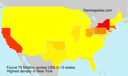 Surname Maitino in USA