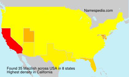 Surname Maizlish in USA