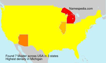 Surname Majder in USA
