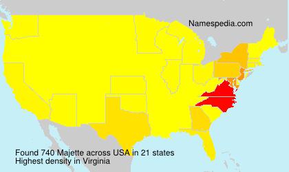Familiennamen Majette - USA