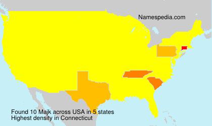 Surname Majk in USA