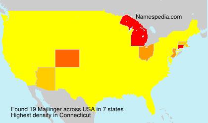Surname Majlinger in USA