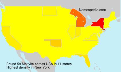 Surname Majtyka in USA