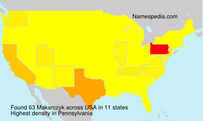 Surname Makarczyk in USA