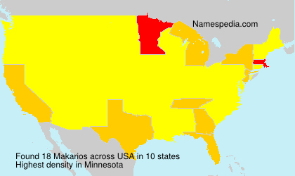 Surname Makarios in USA