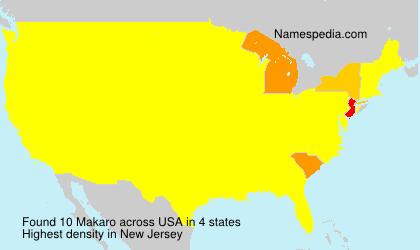 Surname Makaro in USA