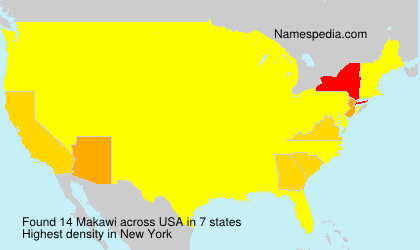 Surname Makawi in USA