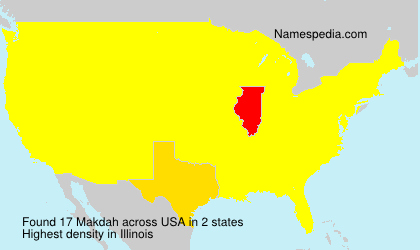 Surname Makdah in USA