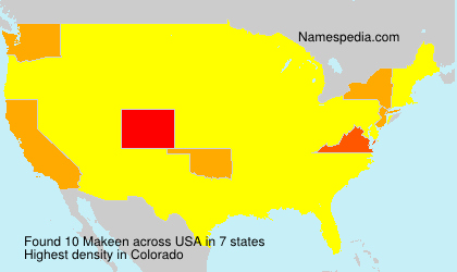 Surname Makeen in USA