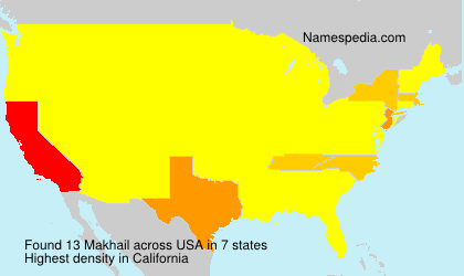 Surname Makhail in USA