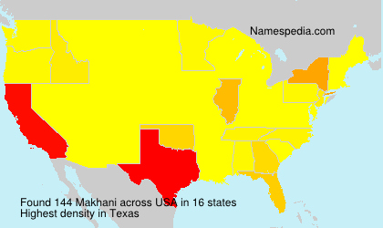 Surname Makhani in USA