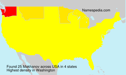 Surname Makhanov in USA