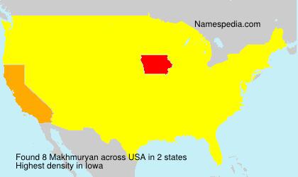 Surname Makhmuryan in USA