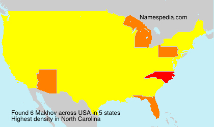 Surname Makhov in USA