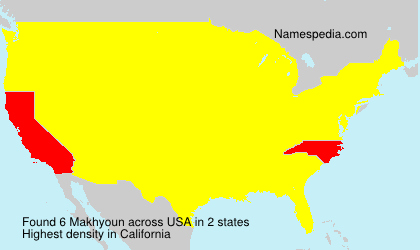 Surname Makhyoun in USA