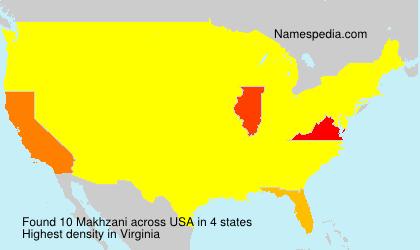 Surname Makhzani in USA