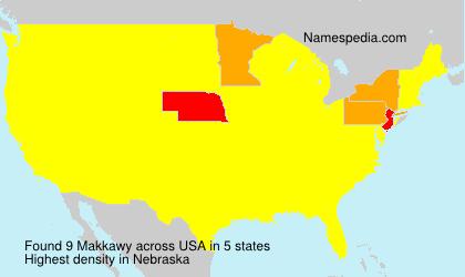 Familiennamen Makkawy - USA