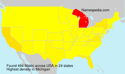Surname Makki in USA