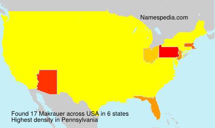 Familiennamen Makrauer - USA