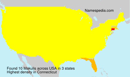 Surname Makulis in USA
