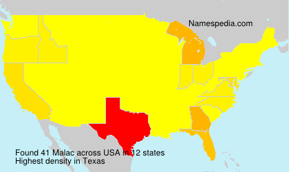 Surname Malac in USA