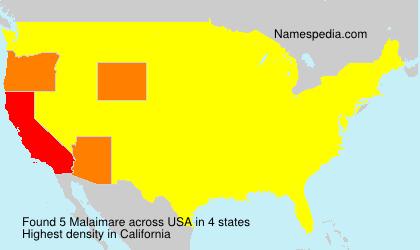 Familiennamen Malaimare - USA