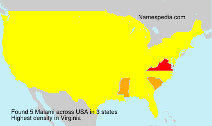 Surname Malami in USA