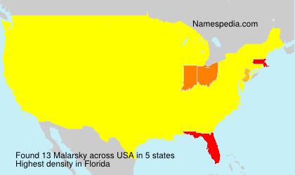 Familiennamen Malarsky - USA