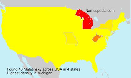 Familiennamen Malatinsky - USA