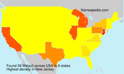 Surname Malayil in USA
